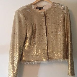 Rachel Zoe gold sequin jacket